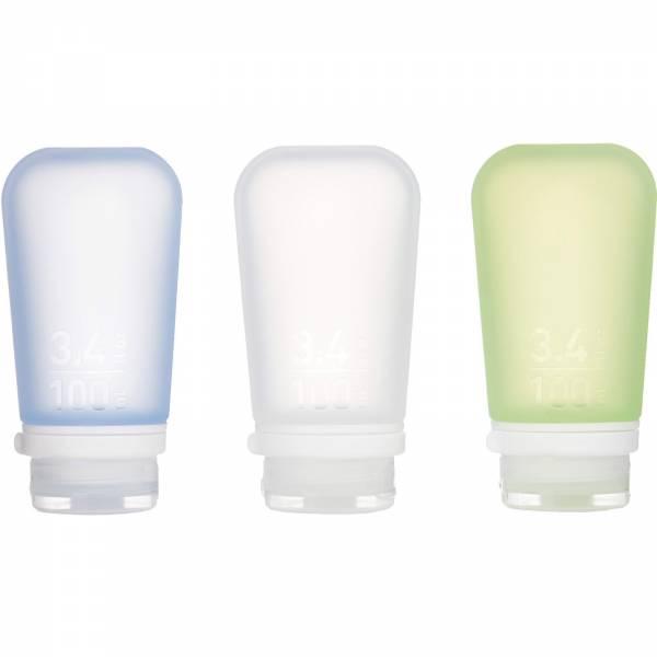 humangear GoToob 3er Pack - 3 x 100 ml Tube transparent-grün-blau - Bild 2