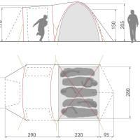 Vorschau: VAUDE Campo Casa XT 5P - Fünf-Personen-Zelt - Bild 8