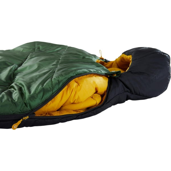 Nordisk Gormsson -2° Mummy - 3-Jahreszeiten-Schlafsack artichoke green-mustard yellow-black - Bild 11