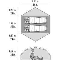 Vorschau: MSR Carbon Reflex 2 - 2 Personen Zelt - Bild 4