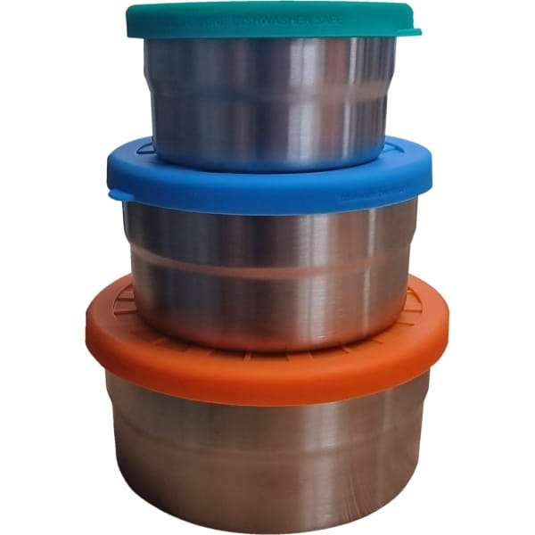 ECOlunchbox Seal Cup Trio - Edelstahl-Silikon-Dosen-Set - Bild 1