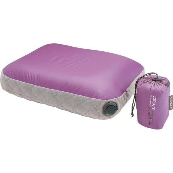 COCOON Air-Core Pillow Ultralight Small - Reise-Kopfkissen purple-grey - Bild 5