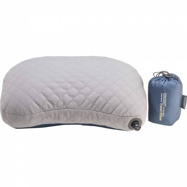 COCOON Air-Core Down Travel Pillow - Daunenkopfkissen dark indigo-grey - Bild 4
