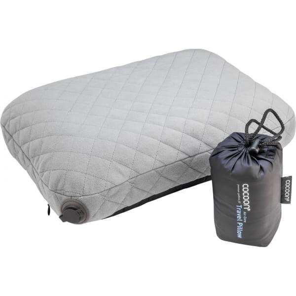 COCOON Air-Core Pillow - Reise-Kopfkissen smoke grey-charcoal - Bild 2