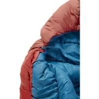 Vorschau: Nordisk Puk -2° Blanket - Decken-Schlafsack sun dried tomato-majolica blue-syrah - Bild 7