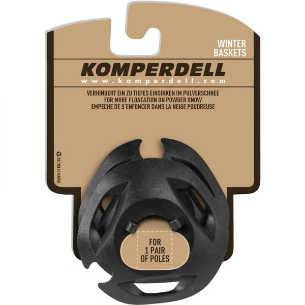 Komperdell Eisflanken Large UL Winterteller - Stockteller schwarz - Bild 1