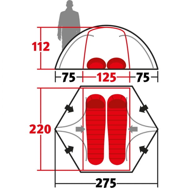 Wechsel Forum 4 2 Unlimited Line - 2-Personen-Zelt green - Bild 3