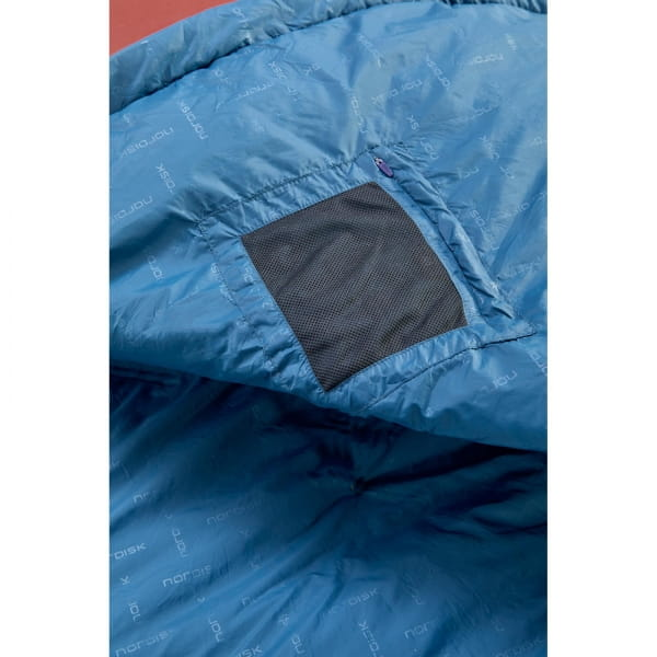 Nordisk Puk +10° Blanket - Sommerschlafsack sun dried tomato-majolica blue-syrah - Bild 8