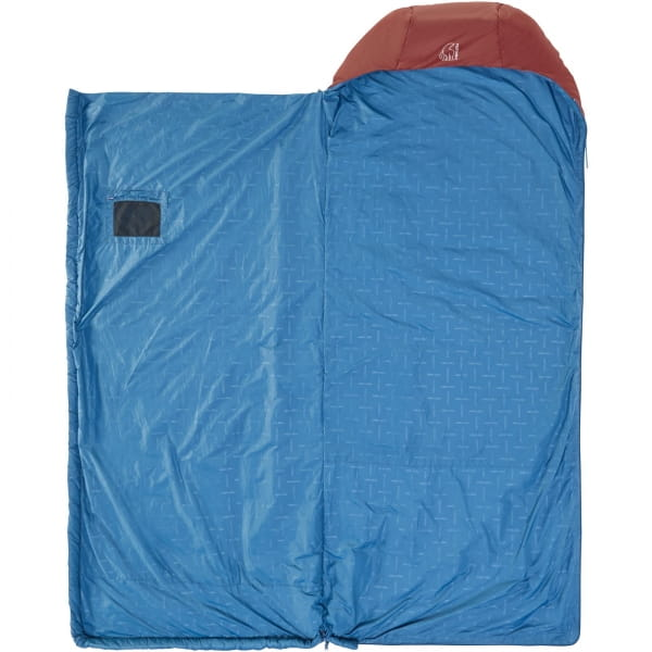 Nordisk Puk +10° Blanket - Sommerschlafsack sun dried tomato-majolica blue-syrah - Bild 4