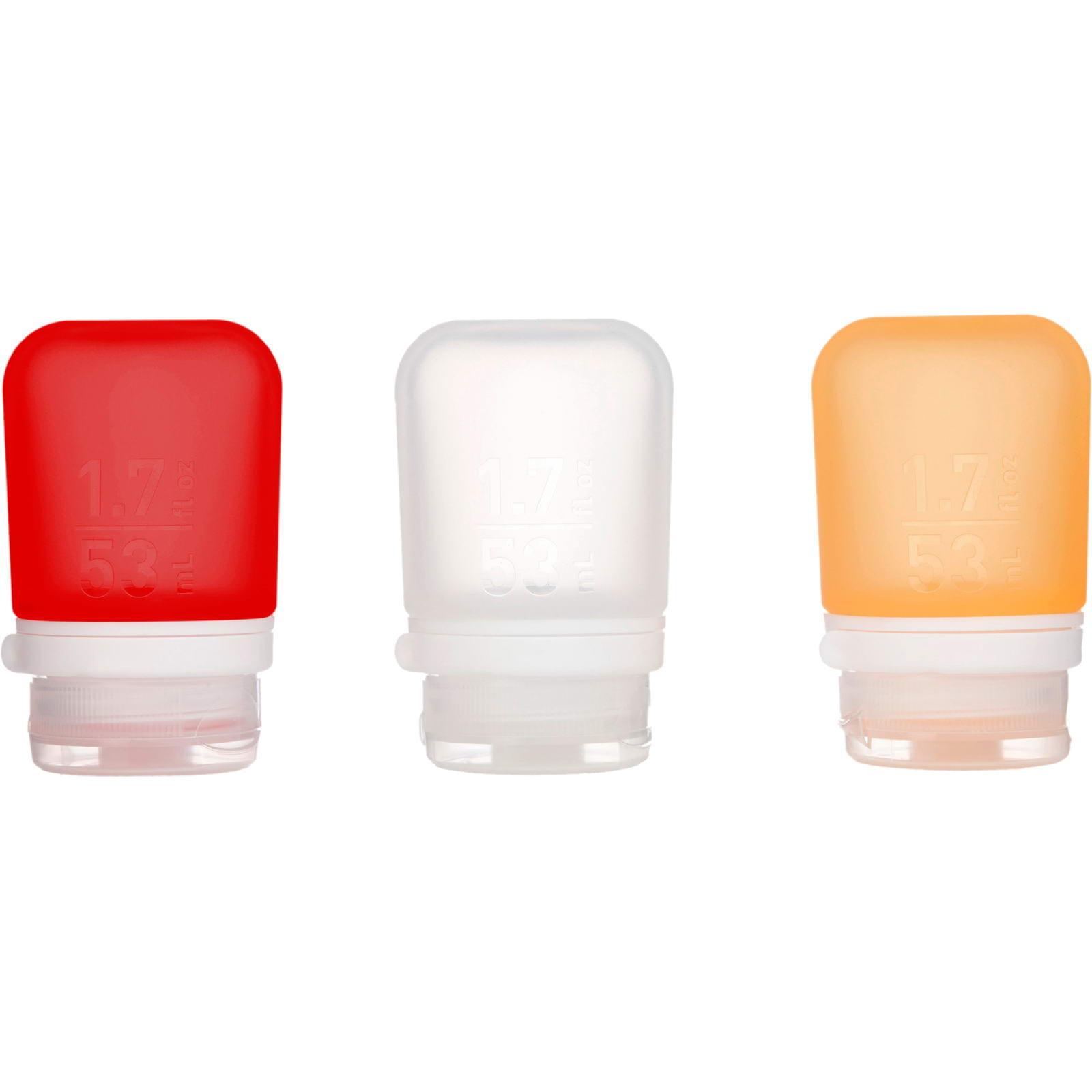 humangear GoToob 3er Pack - 3 x 53 ml Tube transparent-rot-orange - Bild 2