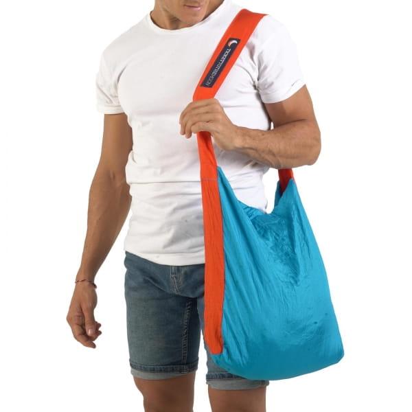TICKET TO THE MOON Eco Bag M - Einkaufstasche aqua-orange - Bild 2
