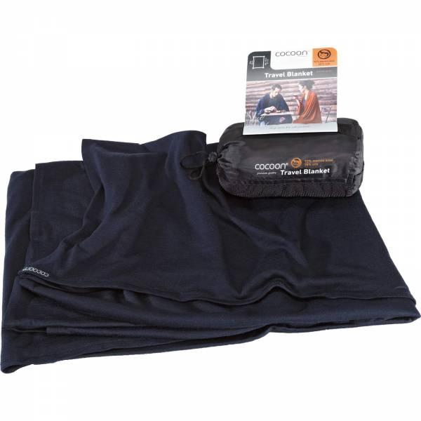 COCOON Merino Wool-Sillk TravelBlanket - Decke graphite blue - Bild 3