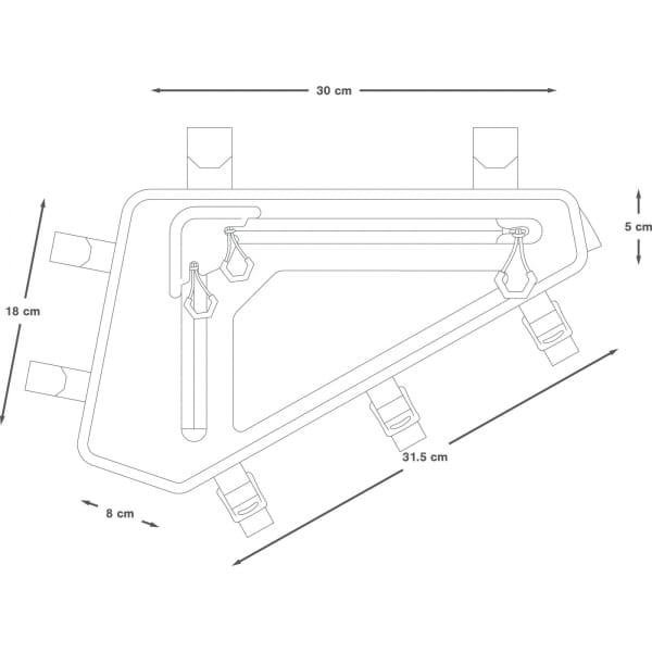Apidura Backcountry Full Frame Pack 2.5 L - Rahmentasche - Bild 3