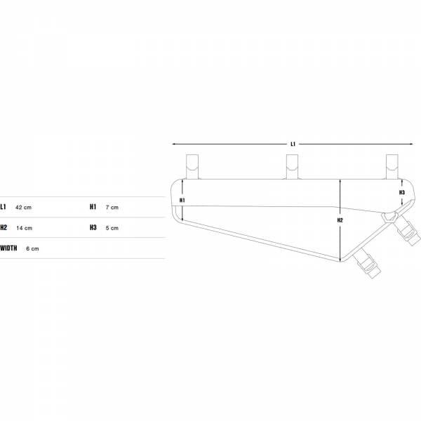Apidura Racing Frame Pack 4 L - Rahmentasche - Bild 3