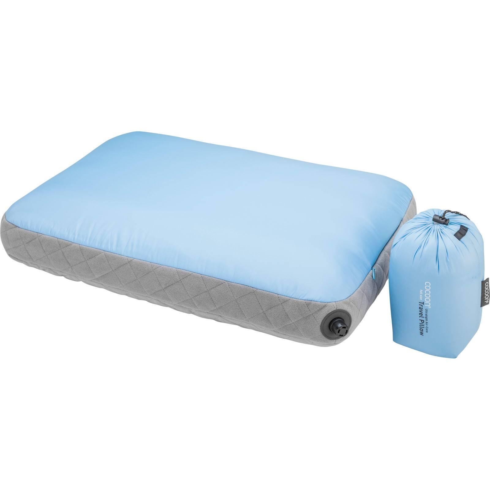 COCOON Air-Core Pillow Ultralight Large - Reise-Kopfkissen light blue-grey - Bild 1