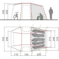 Vorschau: VAUDE Drive Van XT 5P  - Busvorzelt - Bild 2