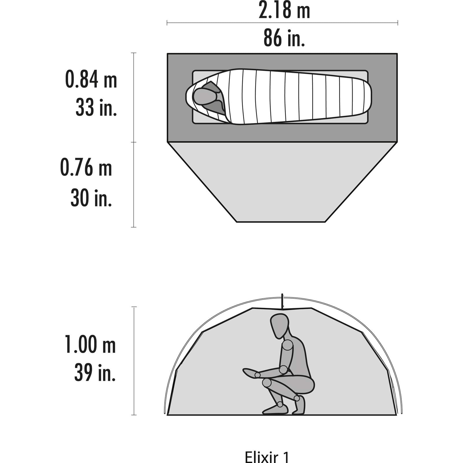 MSR Elixir 1 - Ein-Personen-Zelt - Bild 8