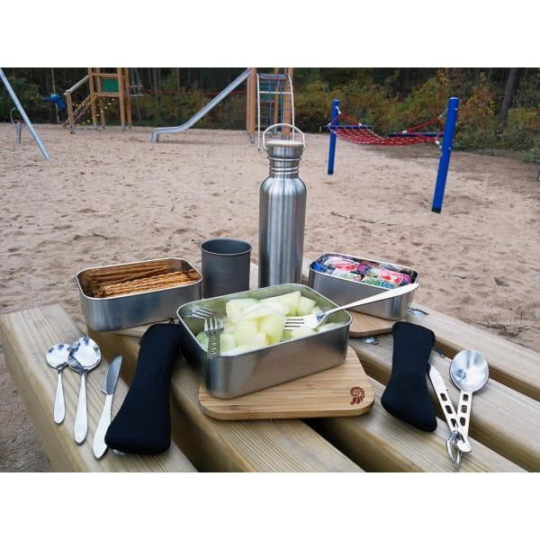 Basic Nature Bamboo Lunchbox 1,2 L - Edelstahl-Proviantdose stainless - Bild 5