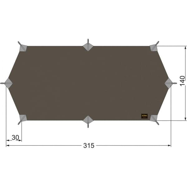 Tatonka Tarp Wing 1 LT stone-grey-olive - Bild 1