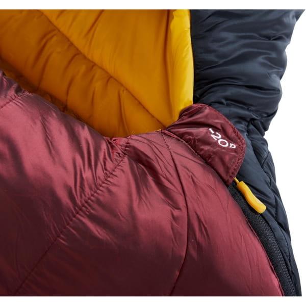 Nordisk Oscar -20° Mummy - Winterschlafsack rio red-mustard yellow-black - Bild 8