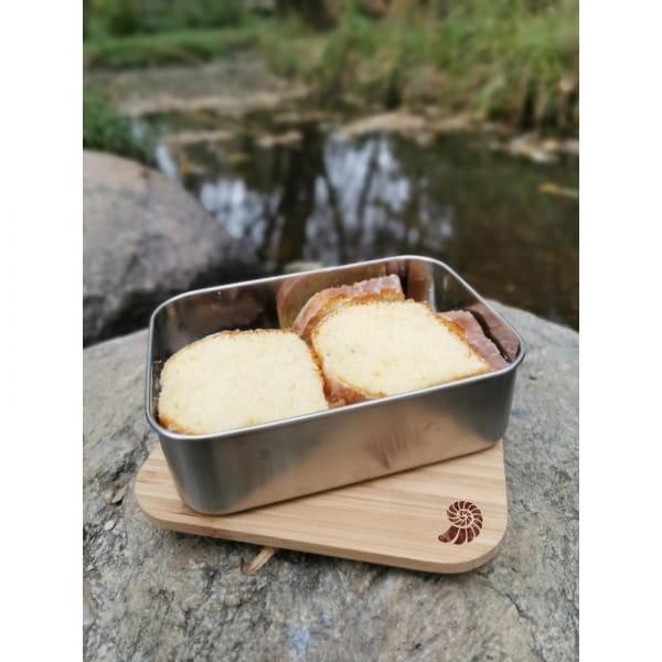 Basic Nature Bamboo Lunchbox 1,2 L - Edelstahl-Proviantdose stainless - Bild 4