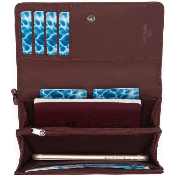 pacsafe RFIDsafe Women's Clutch Wallet - Geldbörse merlot - Bild 11