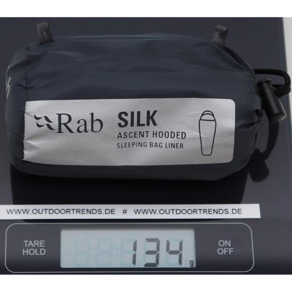Rab Silk Ascent Hooded Sleeping Bag Liner - Innenschlafsack slate - Bild 2