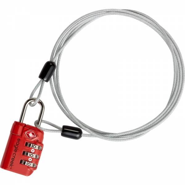 Eagle Creek 3-Dial TSA Lock & Cable - Schloss flame orange - Bild 2