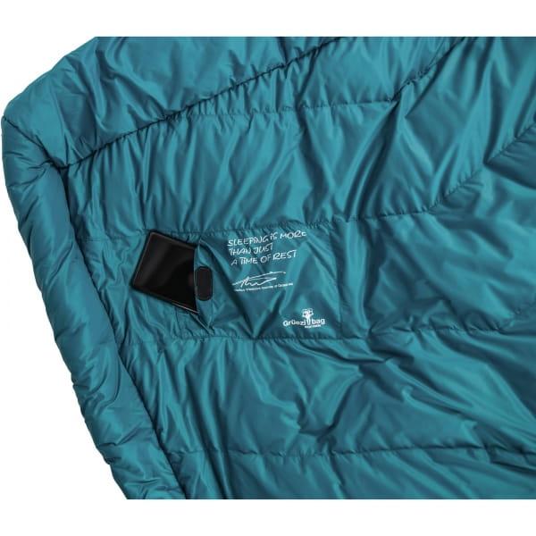 Grüezi Bag Biopod DownWool Subzero Comfort - Daunen- & Wollschlafsack autumn blue - Bild 8