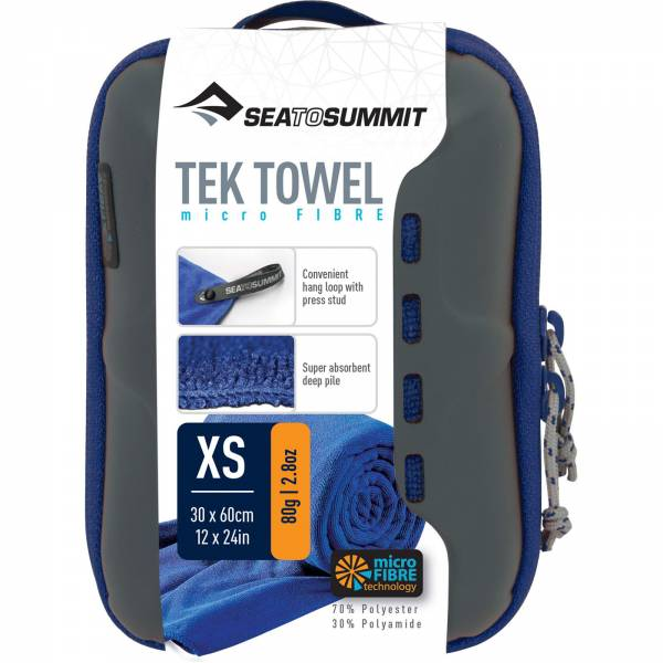 Sea to Summit Tek Towel XS - Outdoorhandtuch cobalt - Bild 3