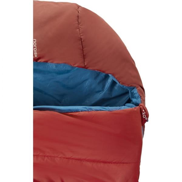 Nordisk Puk +10° Blanket - Sommerschlafsack sun dried tomato-majolica blue-syrah - Bild 5