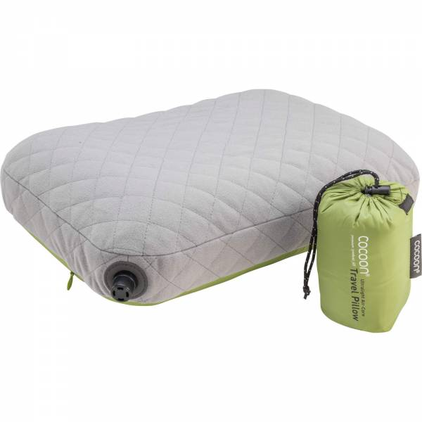 COCOON Air-Core Pillow Ultralight Small - Reise-Kopfkissen wasabi-grey - Bild 4