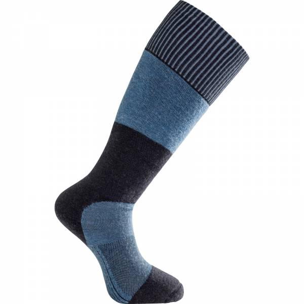 Woolpower Socks Skilled Knee-High 400 - Kniestrümpfe dark navy-nordic blue - Bild 2