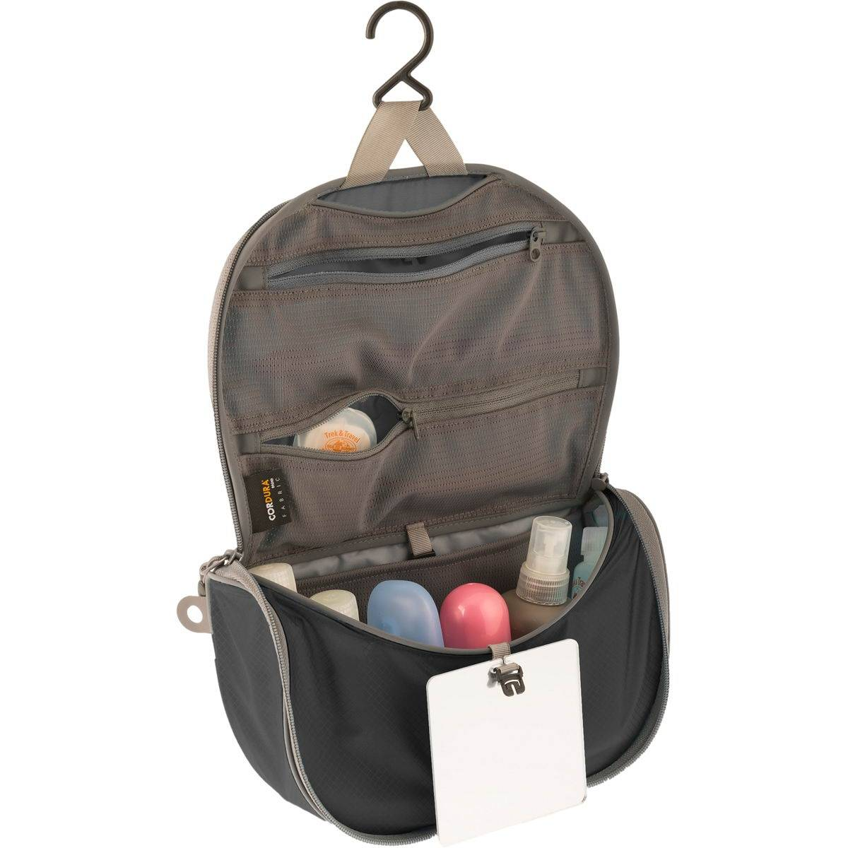 Sea to Summit TravellingLight Hanging Toiletry Bag L black-grey - Bild 2