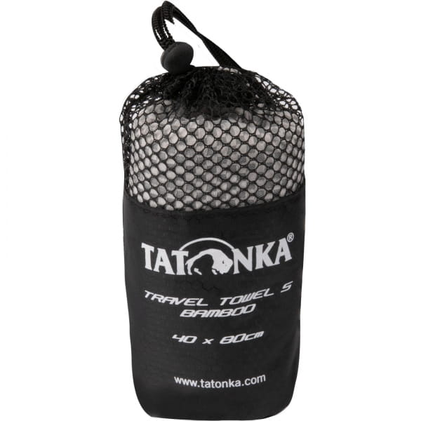 Tatonka Travel Towel Bamboo S - Funktionshandtuch grey - Bild 4