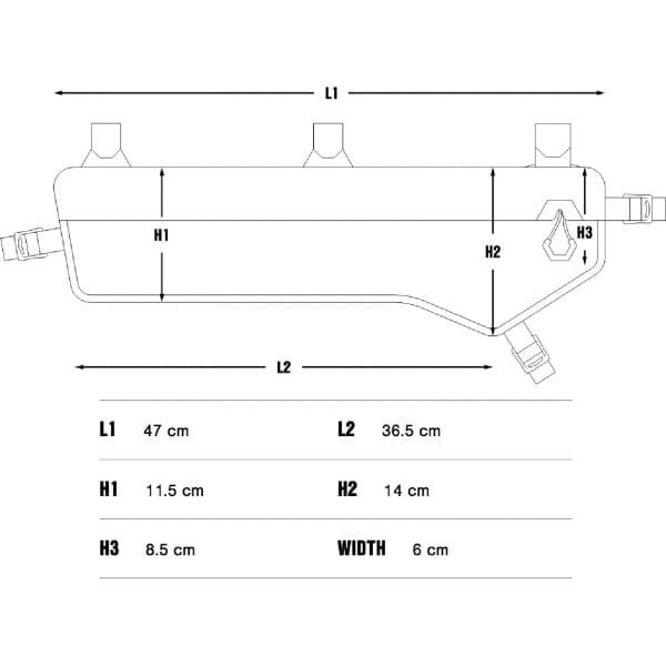 Apidura Expedition Frame Pack 5 L Tall - Rahmentasche - Bild 3