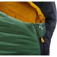 Vorschau: Nordisk Gormsson -2° Mummy - 3-Jahreszeiten-Schlafsack artichoke green-mustard yellow-black - Bild 8