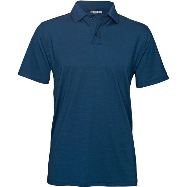 PALGERO Herren SeaCell-Merino Thore Polo blau meliert - Bild 1