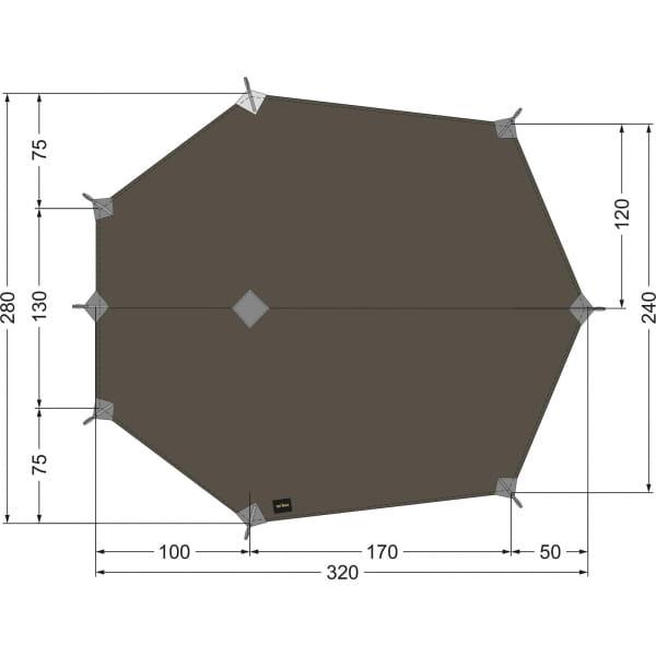Tatonka Tarp Wing 3 LT stone-grey-olive - Bild 1