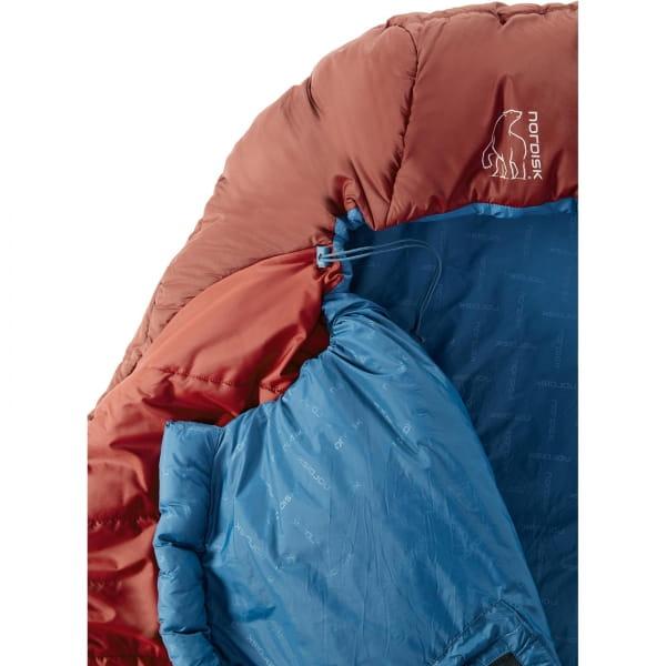 Nordisk Puk +10° Blanket - Sommerschlafsack sun dried tomato-majolica blue-syrah - Bild 7