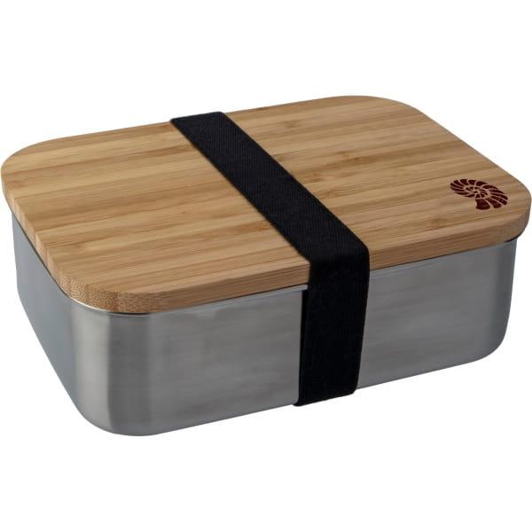 Basic Nature Bamboo Lunchbox 1,2 L - Edelstahl-Proviantdose stainless - Bild 1