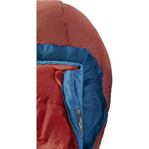 Nordisk Puk +10° Blanket - Sommerschlafsack sun dried tomato-majolica blue-syrah - Bild 6