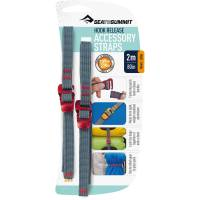 Sea to Summit Tie Down Hook Strap - 2 Stk. 10 mm x 2,0 m rot