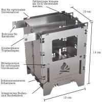 Vorschau: bushcraft essentials Bushbox LF Titanium - Hobo-Kocher - Bild 2