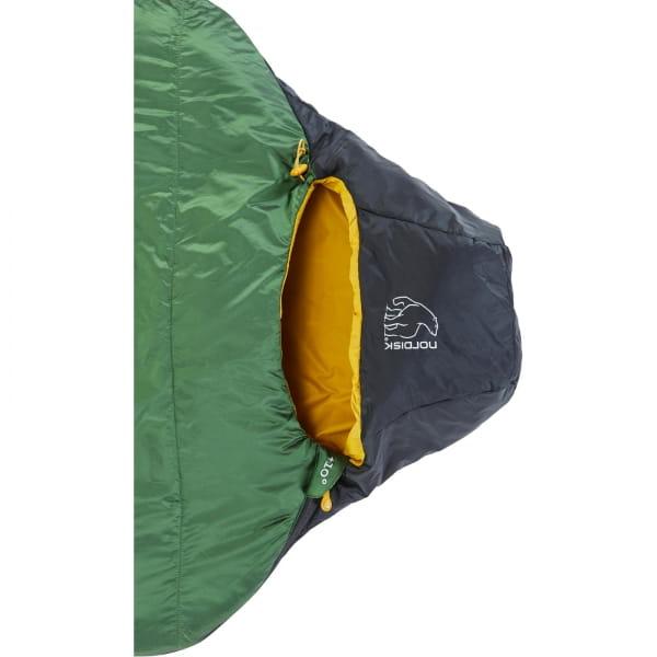 Nordisk Gormsson +10° Curve - Sommerschlafsack artichoke green-mustard yellow-black - Bild 5