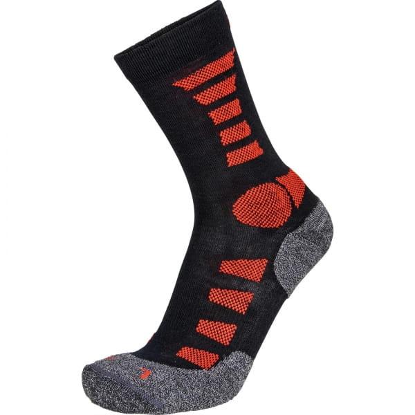 EIGHTSOX TK Merino light - Wander-Socken black-red - Bild 3