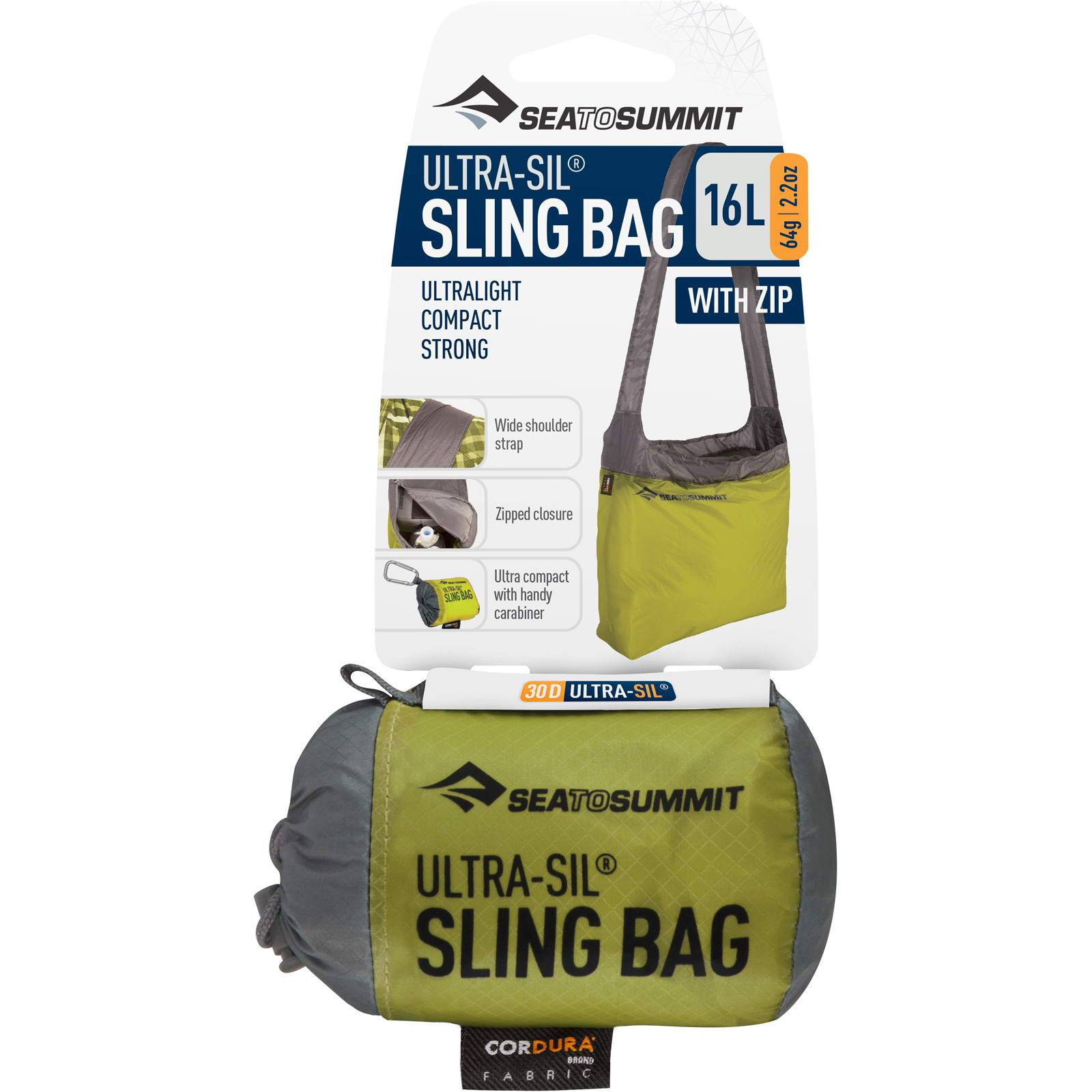 Sea to Summit Ultra-Sil® Sling Bag - Schultertasche lime - Bild 9