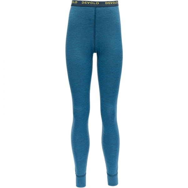 DEVOLD Breeze Junior Long Johns - lange Unterhose blue melange - Bild 1