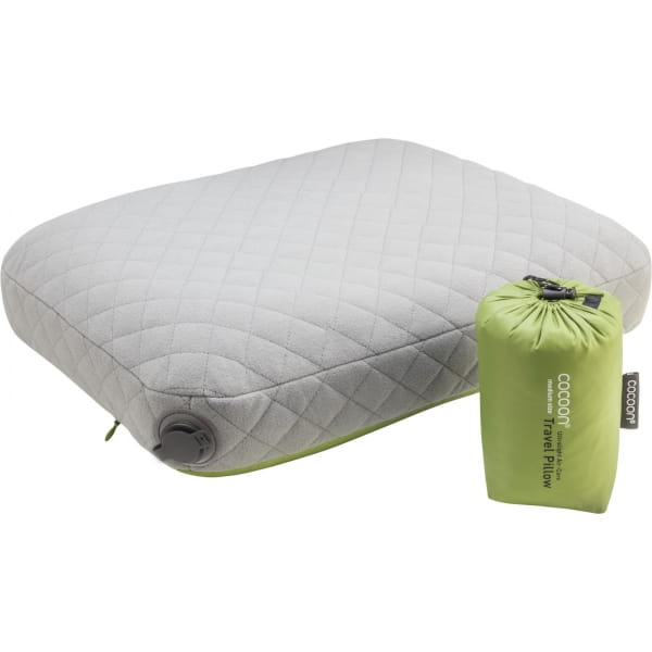 COCOON Air-Core Pillow Ultralight Medium - Reise-Kopfkissen wasabi-grey - Bild 2