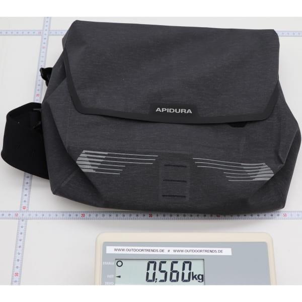 Apidura City Messenger M - 13 Zoll Kuriertasche dark grey melange-black - Bild 3
